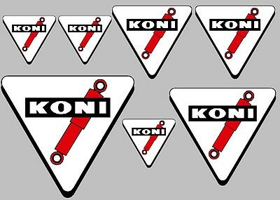 KONI suspension decal set 7 quality printed and laminated stickers free delivery