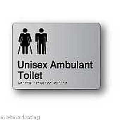 Braille Signage - AMBULANT UNISEX TOILET Statutory Signage Building Construction