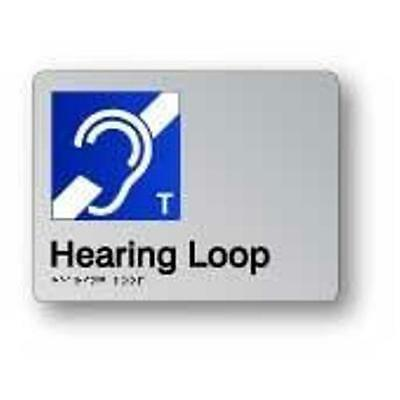 Braille Signage - HEARING LOOP