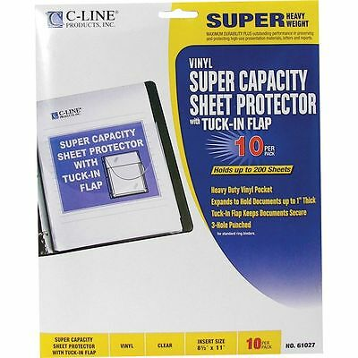 C-Line Super Capacity Top Loading Sheet Protectors With Tuck-In Flaps - CLI61027