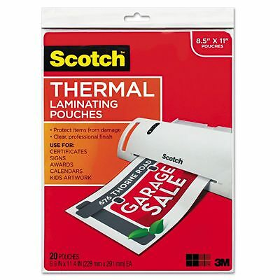 Scotch Thermal Letter Size Laminating Pouches - MMMTP385420