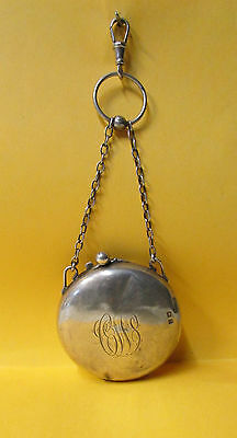 Antique Georgian Full Hunter Style Sterling Silver FOB ~ H. Mathews, England