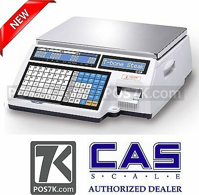 CAS CL-5000 B Printing Scale 60 lbs NEW Legal for Trade NTEP CL5000