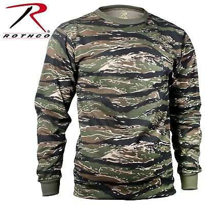 Tiger Stripe Camouflage Long Sleeve T-Shirt Tactical Military Shirt Rothco 66787