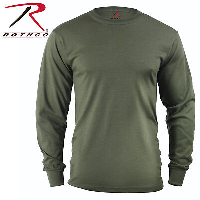 OD Green Army USMC Long Sleeve T-Shirt Tactical Military Shirt Rothco 60118