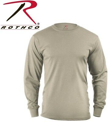 Desert Sand Army Long Sleeve cotton T-Shirt Tactical Military Shirt Rothco 8597