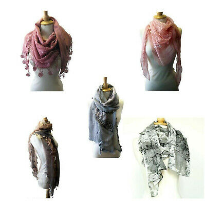 New Ladies Womens Girls Fashion Scarf Shawl Wrap Stole Soft Lace Animal Print