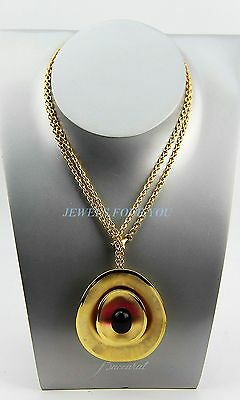 BACCARAT JEWELRY MYSTERE NECKLACE VERMEIL 24K GOLD ST. SILVER PEONY CRYSTAL NEW