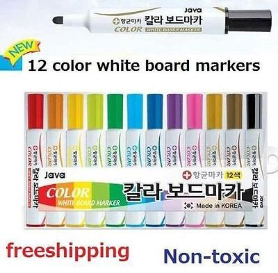 new whiteboard markers White Board Dry-Erase Marker Pens 12 Colors normal