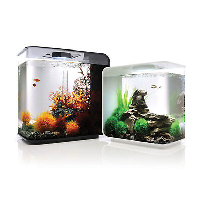 biOrb Flow 15 30 LED Coldwater Aquarium Tank Black White With Optional Decor Kit
