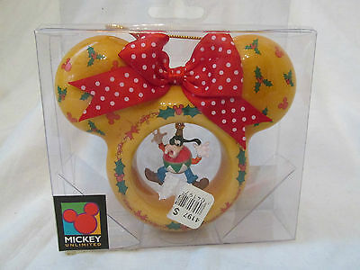New Mickey Unlimited Mouse Ears Disney Christmas Ornament with Dangling Goofy