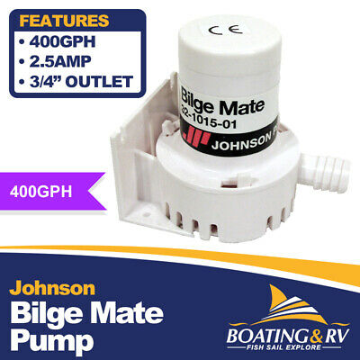 12V Bilge Water Pump JOHNSON Marine Boat Submersible Electric 475gph/30L