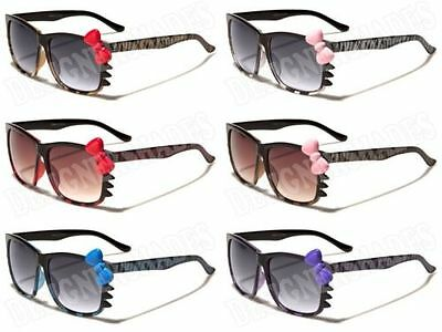 CUTE LADIES WOMENS HELLO KITTY SUNGLASSES  WITH BOW 100% UVA & UVB KT01ANL NEW
