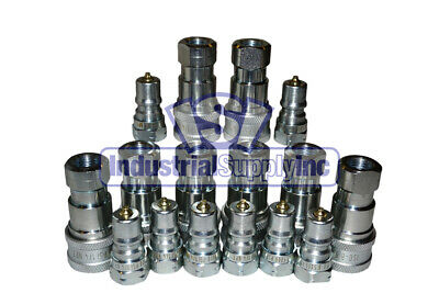 "8 Sets of 1/4"" ISO 7241-1 B Hydraulic Quick Disconnect Couplers"