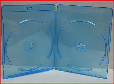 6 Pk New 11mm Blu-Ray Case With Logo Double 2 Disc Box Premium Dual Movie Holder
