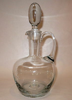 Beautiful Heavy Hand Blown Glass Decanter
