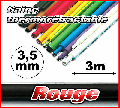 GR3.5-3# gaine thermorétractable rouge 3,5mm 3m ratio 2/1  gaine thermo red