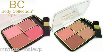 Body Collection Quad Blusher Set, Dusty Pink or English Rose