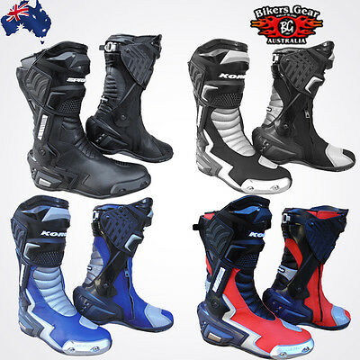Motorcycle Top Quality Leather Sports Racing Track Boots
