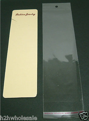 Gold Jewellery Display Cards with Cello Sleeves,Packaging,Wholesale Job Lots UK