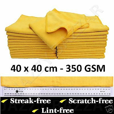 10 Microfibre Cleaning Cloth Towel Large Size for Car & Home Thick & Ultra soft
