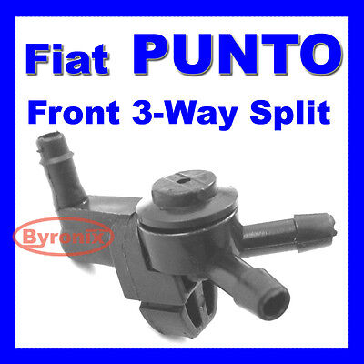 FIAT PUNTO MK1 MK2 WINDSCREEN WASHER JET VALVE 3 Three WAY PIPE SPLITTER FRONT