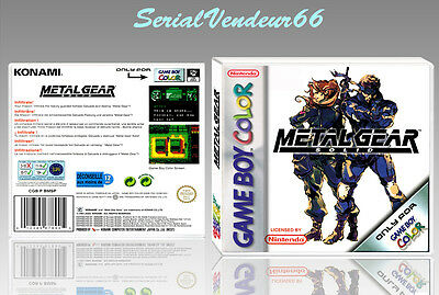 "Boitier du jeu ""METAL GEAR SOLID"", Game Boy Color. PAL FR. HD. SANS LE JEU."