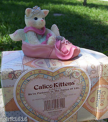 "New - Enesco Calico Kittens ""We're Partners in the Dance of Life"" 314471S Ballet"