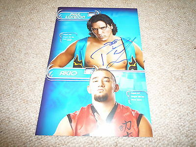 PAUL LONDON   signed Autogramm 20x30cm In Person WWE