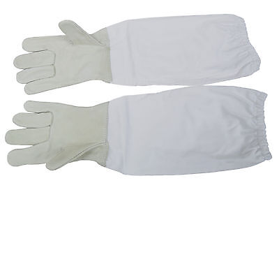 New Large Beekeeping Gloves Leather Bee Keeping w/ sleeves from VIVO (BEE-V103L)