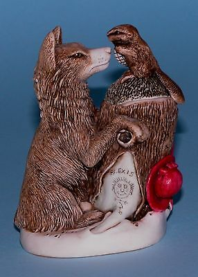 "Harmony Kingdom box TJWO2 ""Peace Summit"" wolf, beaver wild life 1999/2005 NIB"
