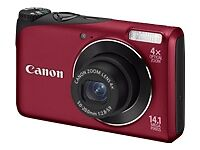 New Canon Powershot A2200 14 MP Digital Camera Red Color Bundle w/ Case 4GB SDHC