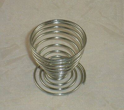One Silver Metal Chrome Spiral Egg Cup - Cups - Egg Timer - Kitchen - Eggs - New