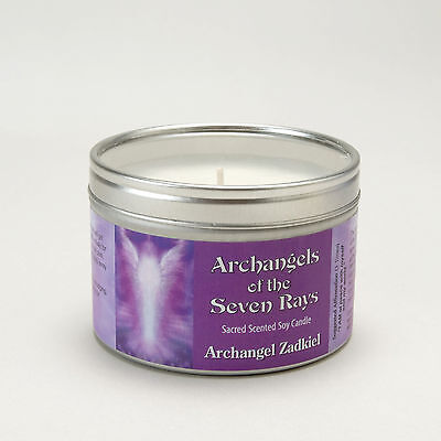 Archangels Of The Seven Rays Zadkiel Spiritual Aromatherapy Soy Wax Candle