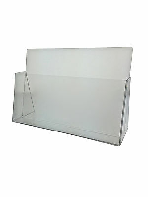 """Clear Acrylic Brochure Holder for 11""""w X 7 7/16""""h literature Horizontal display"""