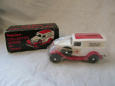 Brand New Texaco Nostalgic 1932 Ford Delivery Van Bank #3 Collector Series 1986