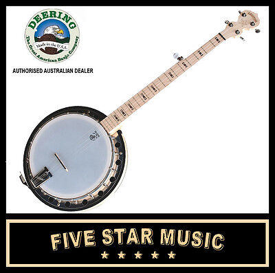 Deering Goodtime Two Resonator Banjo Bluegrass 5 String New Usa Made Good Time 2