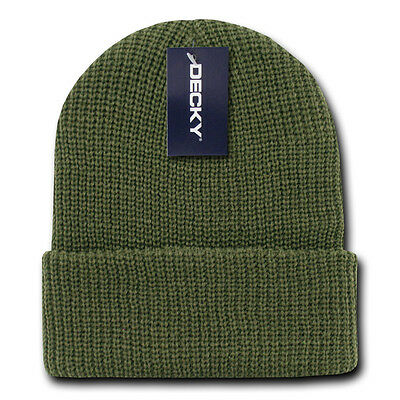 6570b2af Olive Green GI BEANIE HAT Cuffed Knit Winter Watch Cap ski snowboard army  skully