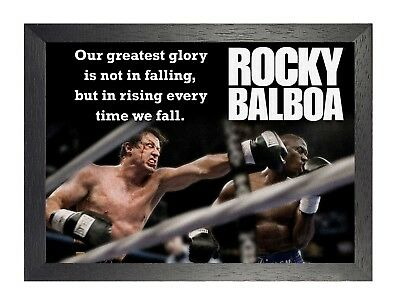 Rocky Balboa 6 Sylvester Stallone Boxer Rocky Film Motivation Quote Poster