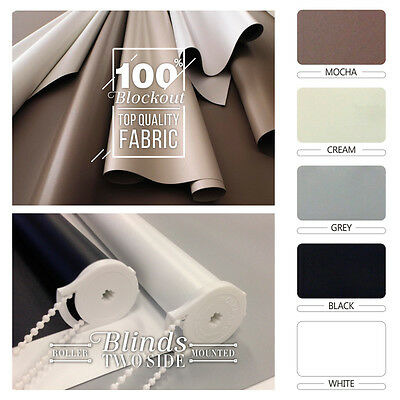 NEW 100% BLOCKOUT Roller Blind 240cm / 2400mm (Width)  - 5 COLOURS to choose