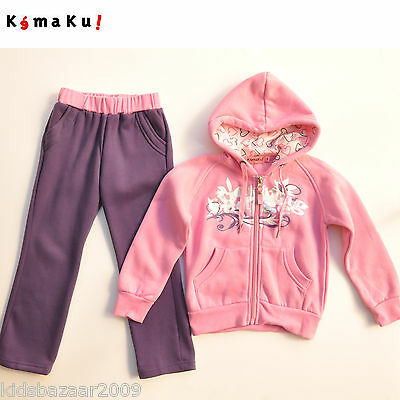 Spanish Brand Kemaku Girls Pink/Purple Hoodie Fleeced Tracksuit Set Size 3/4/5/6