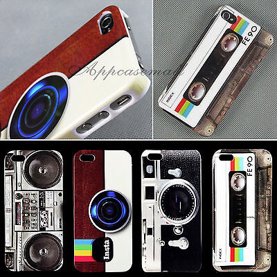 New Hot Deluxe Retro Glossy Hard Back Skin Case Cover For Apple Iphone 4 4S 5 5S