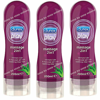 Durex Gel Play MASSAGE Aloe Vera 3 Lubrificanti intimi massaggio 200 ml