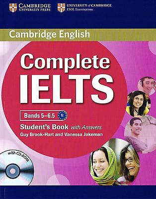 Cambridge English COMPLETE IELTS Bands 5-6.5 STUDENT'S BOOK with Answers +CD New