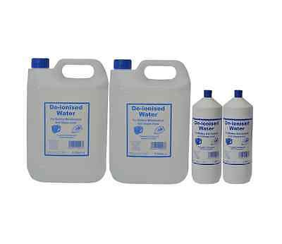 De-ionised Water Deionised & Distilled Water Bottle Pick Your Size De-ionized
