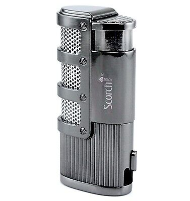 Scorch Torch Windproof Butane Refillable Triple Jet Cigar Torch Lighter