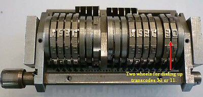 (S)-Offset Number Machine MICR/E-13B 19 Wheel 4x4 digits + 2 for trans code