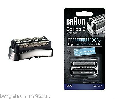 Braun 32S Series 3 Replacement Foil And Cutter For 330 350Cc 370Cc 380 390Cc