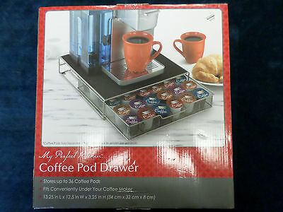 BED BATH & BEYOND COFFEE POD DRAWER (HOLDS 36 PODS) UPC 813918017561 NEW IN BOX