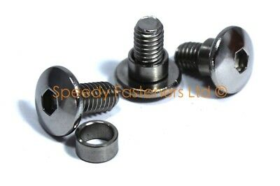 Stainless Steel Motorcycle Fairing Bolts & Spacers Collars Shoulders Choose Size